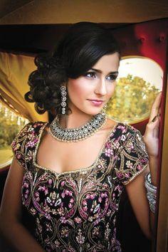 Indian Wedding Hairstyle - A Pretty Messy Side Bun
