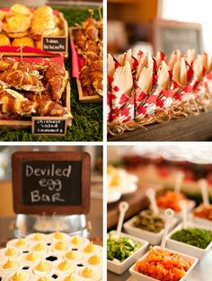 Bridal shower appetizers {via www.anygivenparty.com}