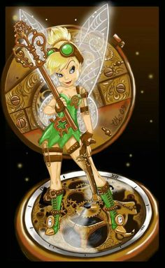 Steampunk Tinkerbell - Tinkerbell would so be steam punk! she's a tinker fairy! Disney Steampunk, Steampunk Fashion, Steampunk Kids, Steampunk Movies, Steampunk Fairy, Tinkerbell And Friends, Disney Fairies, Tinkerbell Disney, Tinkerbell Movies
