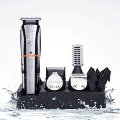 【6 IN 1 Multi-Functional Grooming Kit】The kit includes: hair & full size trimmer,deagin trimmer,precision trimmer,nose & ear trimmer,beard trimmer,body trimmer. You can use a precise comb for precision trimmer and 4 guid combs( 3/6/9/12mm )for hair trimmer.Depending on your needs, you can choose different guide combs and lengths to enrich your hairstyle. 【LCD Display & USB Charging】 【Waterproof & Easy Clean】 【Easy to install & remove 】 【High Performance Sharp Steel Blades】 Beard Trimmer, Trimmer For Men, Beard Grooming, Grooming Kit, Ear Hair, Beard No Mustache, Brush Cleaner, Facial Hair, Usb