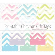 Printable Chevron Gift Tags. Tons of printable labels and tags on this page.