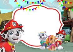 FREE Printable Paw Patrol Baby Shower and Birthday Invitation   FREE Printable Baby Shower Invitations Templates Paw Patrol Party Invitations, Free Printable Birthday Invitations, Baby Shower Invitation Templates, Birthday Party Invitations, Cumple Paw Patrol, Paw Patrol Characters, Templates Free, 3rd Birthday, Anna