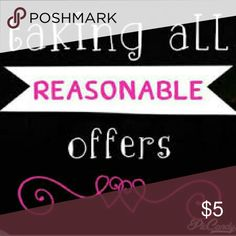 No reasonable offer turned down! Like the item but not the price? Make me an offer! Other