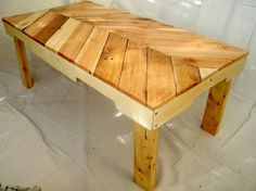 Pallet Wood Coffee Table by GrandJunctionGuy on Etsy, $195.00