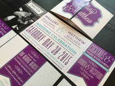 Custom Fold Wedding Invitation by TheDesignBrewery on Etsy