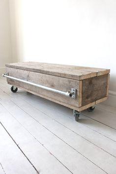 Violet Reclaimed Scaffolding Board Long Low by UrbanGrainInteriors