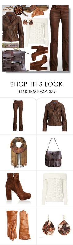 """Roasted Chestnut"" by simply-one ❤ liked on Polyvore featuring Ralph Lauren, Polo Ralph Lauren, Gianvito Rossi, Intermix, Saks Fifth Avenue Collection, Ippolita and friendsgiving"