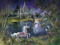 "mystical fantasy pictures | ... jigsaw puzzle featuring ""The Magic Apple"" by fantasy artist Mimi Jobe"