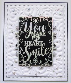 PartiCraft (Participate In Craft) Good Sunday Morning, You Make Me, How To Make, Happy Everything, Dry Well, Sue Wilson, Black Card, Flag Decor, Embossing Folder