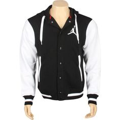 Jordan Varsity Jacket (black / white) 451582-013 - $94.99