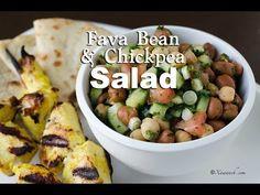 VIDEO: Fava Bean & Chickpea Salad (Insalaaddo Digir) سلطة الفول والحمص