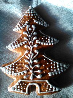 Christmas tree made of honey cookie