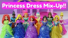 Glitter Gliders MagiClips Disney Princess Dress Mix-Up Challenge w/ Auro...