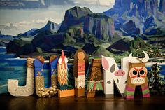Moana Paper Mache Letters  ONE LETTER by SugarLagoonParties