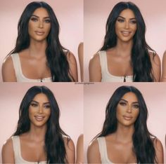 Kim Kardashian Nails, Kim Kardashian Wedding, Kardashian Style, Kardashian Jenner, Beauty Makeup, Hair Makeup, Hair Beauty, Kim K Makeup, Bridal Makeup Looks