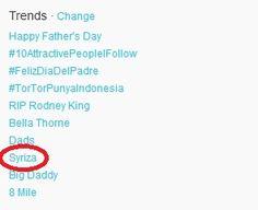 Παγκόσμιο trend ο ΣΥΡΙΖΑ στο Twitter!