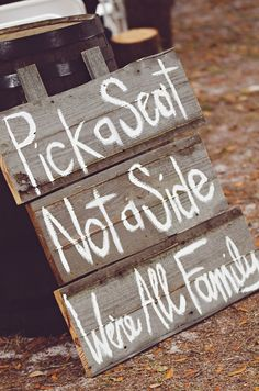 Wedding sign #country #western #wedding … Wedding #ideas for brides, grooms, parents & planners https://itunes.apple.com/us/app/the-gold-wedding-planner/id498112599?ls=1=8 … plus how to organise an entire wedding, within ANY budget ♥ The Gold Wedding Planner iPhone #App ♥ For more inspiration http://pinterest.com/groomsandbrides/boards/  #rustic #country #reception #ceremony #flowers #ideas