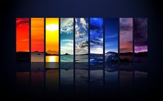 """The Spectrum of the Sky"" -- #wallpaper by ""Dominic Kamp"" from http://interfacelift.com -- How various the colors of the sky can be, you can see on this picture I created from nine of my favorite shots since 2008. Enjoy!   -- Available as #wallpapers in any resolution at: http://interfacelift.com/wallpaper/details/1707/the_spectrum_of_the_sky.html"