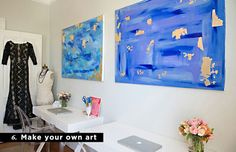 10 Money-Saving Decorating Tips We've Learned from Everygirl Home Tours // Make your own art