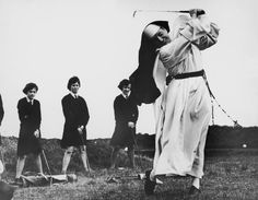 Nuns having fun will restore your faith in joy. 1965  A nun and a golf coach, Sister Mary Martina takes an iron shot on the golf course at Rosebud Country Club, in Portsea, Victoria, Australia. Looking on are girls from St. Mary's School for the Deaf, who, along with Sister Mary Martina, are being coached by the club's professionals.