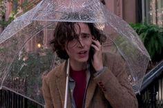 "Timothée Chalamet en ""A Rainy Day in New York"" dir. Woody Allen, New York Movie, Louis Garrel, Gina Gershon, Step Up Revolution, Rain Days, Beau Mirchoff, Chad Michael Murray, Elle Fanning"