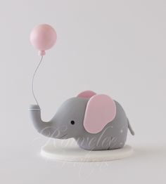 tutorial on how to make a fondant with balloon elephant - Google Search