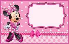 With our free printable Minnie Mouse invitation templates, you'll easily make adorable invitation to be memorable for your guests. Minnie Mouse Template, Minnie Mouse Images, Minnie Mouse 1st Birthday, Minnie Mouse Theme, Minnie Mouse Birthday Invitations, Birthday Invitation Templates, Party Invitations, Bow, Decoration