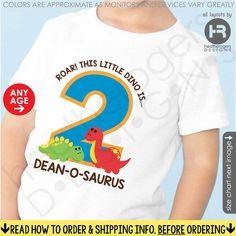 Roar Dinosaur Birthday Shirt or Bodysuit by HeatherRogersDesigns