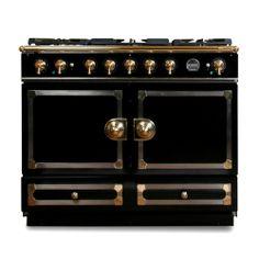 Hello ultimate dream stove! La Cornue CornuFe Stove, Gloss Black with Chrome & Brass