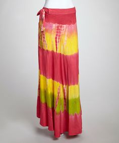 Take a look at this Pink Color Block Maxi Skirt by Unleash Fashion on #zulily today!