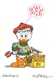 Scrooge McDuck - when he was a little boy. We rarely got to see flashbacks of Scrooge when he was younger. When we did he was usually a young adult. There is so much more to his story. Which begins as a young boy. Fans of the comics are familiar with young Scrooge, but most Ducktales fans aren't. I believe this should be remedied.