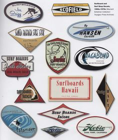 Old surf Logos,shops,etc.
