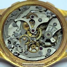 Mechanischer Schweizer Chronograph 1950 Handaufzug 18 Karat Roségold- Chronograph, Rolex Watches, Gold, Plates, Accessories, Find Friends, Elevator, Swiss Guard, Wrist Watches