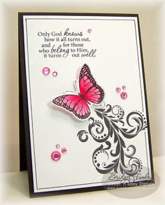 Sweet 'n Sassy stamp sets used: The Future, Monarch Dies and coordinated dies, Leafy Flourish Background and more.