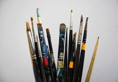 a fine collection of brushes