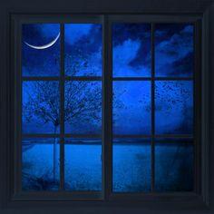 Photo The Blue Window by Philippe Sainte-Laudy Kind Of Blue, Love Blue, Ventana Windows, Photo Bleu, Yves Klein, Window View, Window Panes, Night Window, Himmelblau