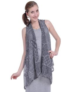 Anna-Kaci S/M Grey and Black All Vent Out Crochet Lace Style Shawl Collar Vest Anna-Kaci http://www.amazon.com/dp/B00CMXOH7K/ref=cm_sw_r_pi_dp_gJe6ub048XWZQ