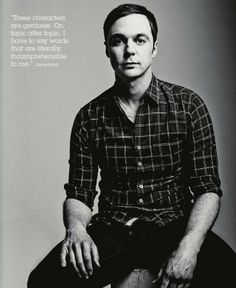 jim parsons talking about the characters of the big bang theory