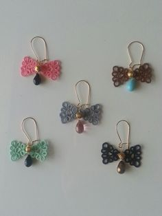 Tatting Ribbon earring!!