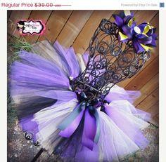Baltimore Ravens Inspired Tutu Skirt - Purple, Black  & Gold tutu,  FREE matching hairbow Girls, tutu, toddler tutu, infant tut