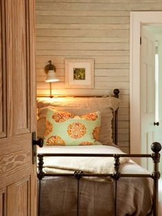Beautiful farm house bedroom for home on elm.  Also look at storage for mudroom.