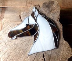 Rustic gifts country decor horse art cowboy by SunDogArtAndGlass Equestrian Gifts, Stained Glass Suncatchers, Rustic Gifts, Brown Horse, Small Shops, Horse Art, Country Decor, Glass Art, Carving
