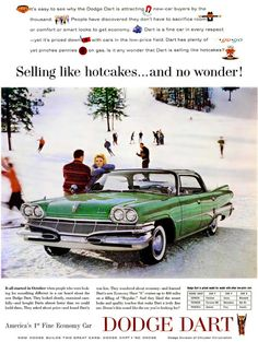 Green Dodge Dart - 1960 - much like the family ride