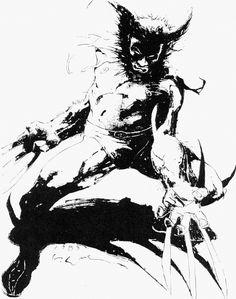 brianmichaelbendis: Wolverine by Kent Williams