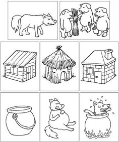 straw house coloring pages - photo#22