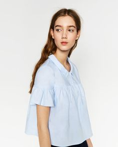 Image 1 of FRILLED SHIRT from Zara