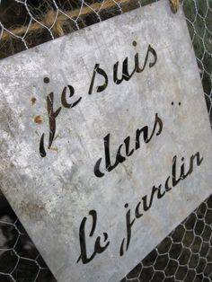 """""""I am in the garden."""" one day i will use it hanging in the front of my house before leaving for garden"""