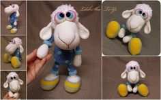 Crochet toy Amigurumi Pattern Little Sheep in by LilikSha