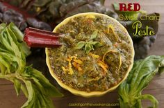 Red Swiss Chard Recipe | Cooking On The Weekends  EAT your vitamins!  Get the recipe here: http://cookingontheweekends.com/2013/02/red-swiss-chard-pesto-recipe/