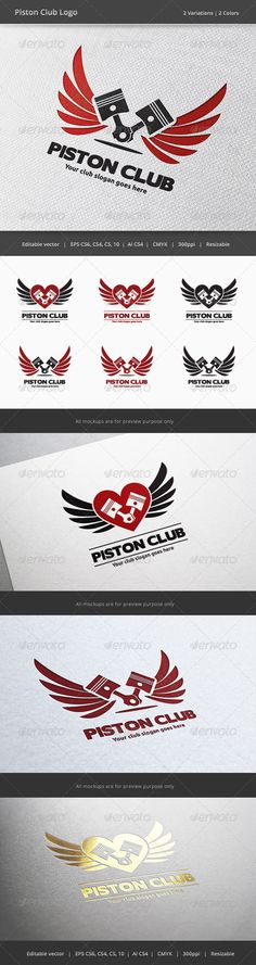 Piston Car and Motorcycle Club Logo